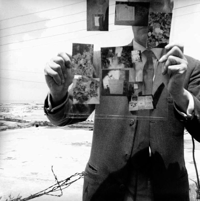 """William Burroughs, """"Self-Portrait, Tangiers"""" (1964) (photo by the author for Hyperallergic)"""