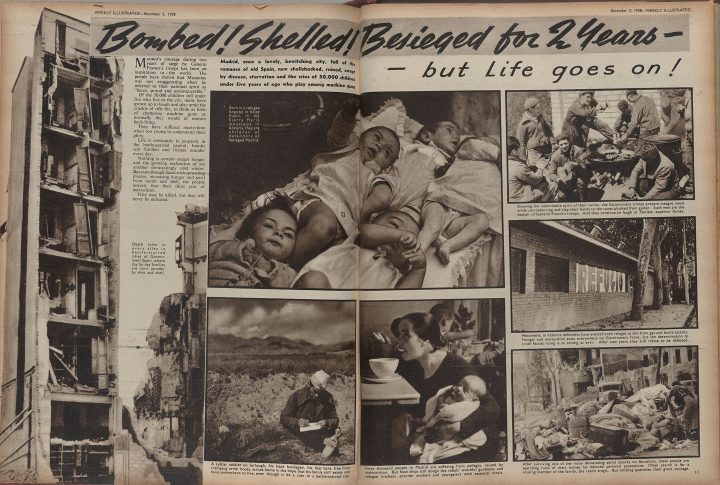 "The Weekly Illustrated, December 3, 1938""Bombed! Shelled! Besieged for two years –but Life goes on!""(photographs by Kati Horna)Private Collection, New York"
