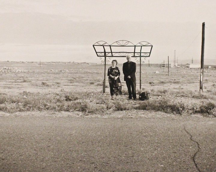 Ursula Schulz-Dornburg, Hoktemberjan, Armavir, 2001, part of a series documenting bus stops in Armenia, part of After Industry at the Weston Gallery.