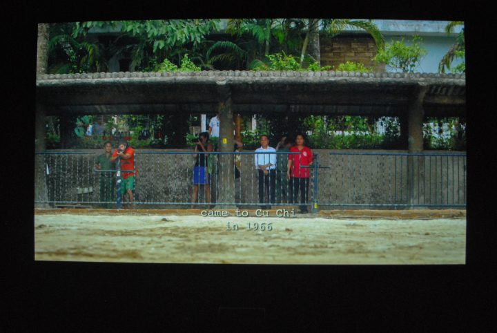 "The Propeller Group, ""Cu Chi Guerrillas,"" (201), photograph of projection."
