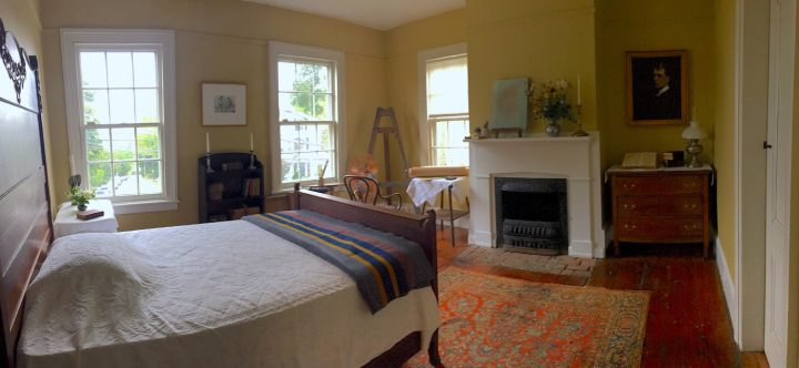 Edward Hopper's bedroom in his Nyack home (photo by Carole Perry, all courtesy The Edward Hopper House)