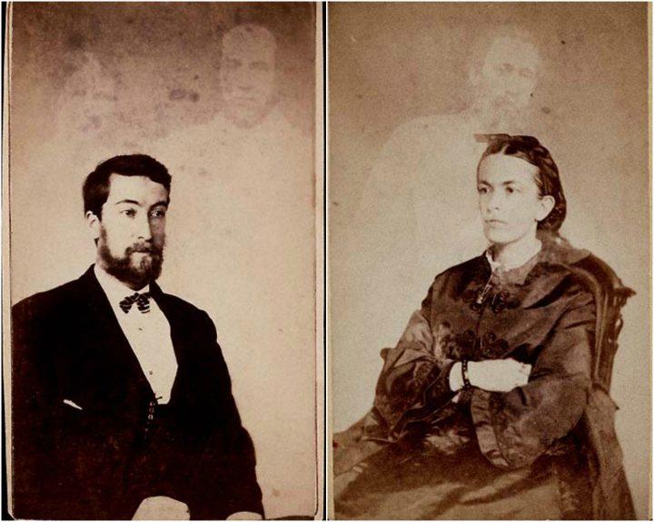 Spirit photographs by William H Mumler