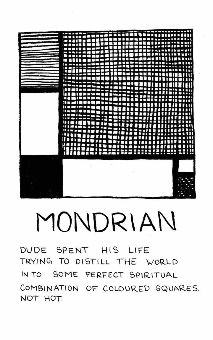 Piet Mondrian by Jessica Campbell