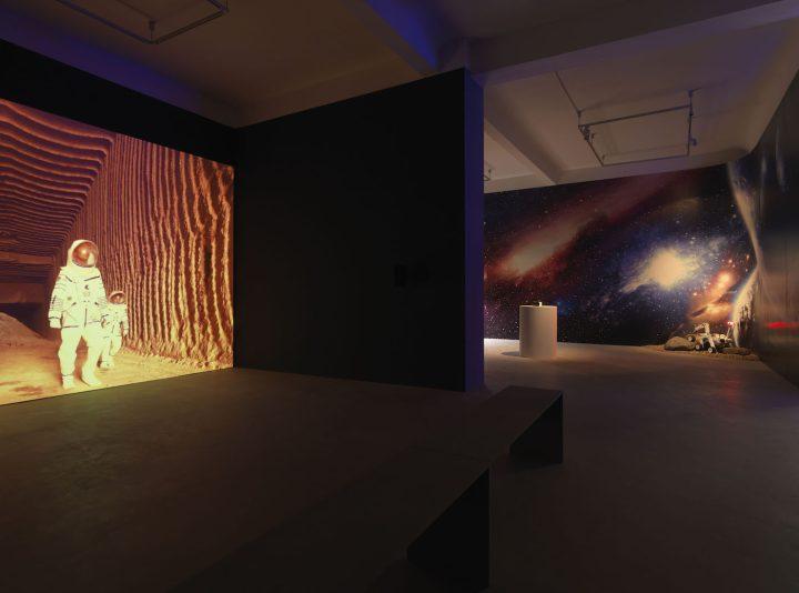 "Halil Altındere, ""Space Refugee"" installation view"
