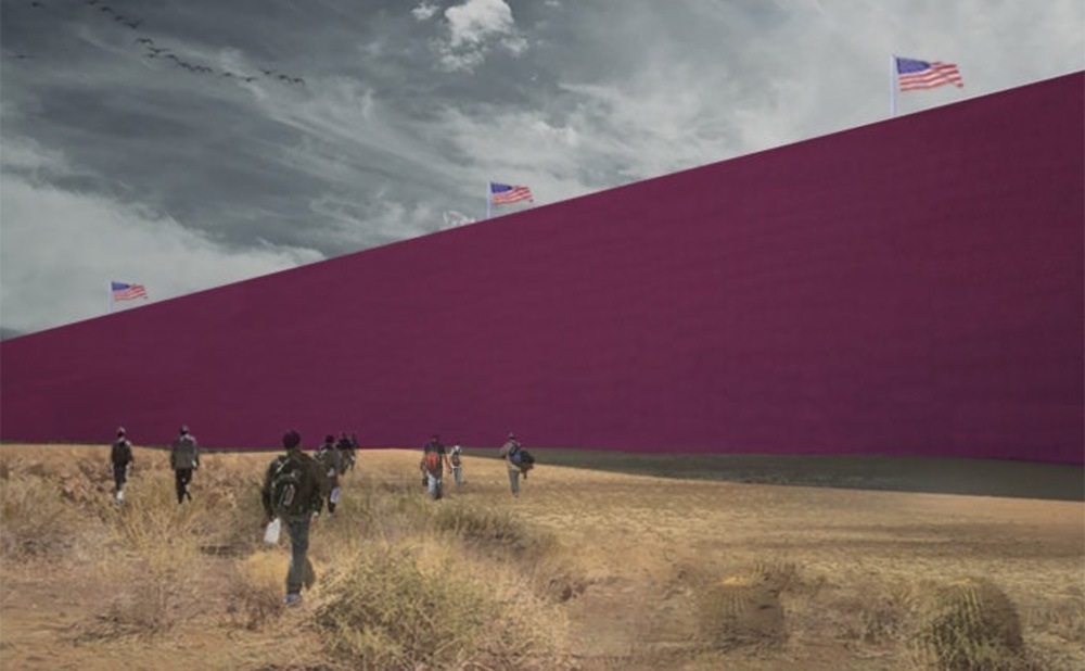 Mexican Architects Imagine Trumps Border Wall as a Pink