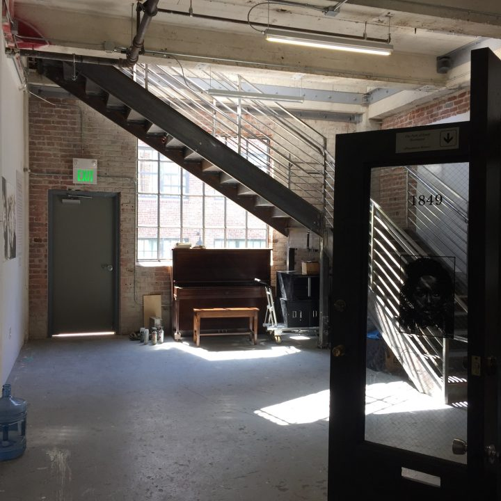 Inside the Pacific Felt Factory warehouse (photo by and courtesy Cindy Shih)