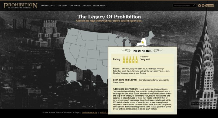 "Exploring ""The Legacy of Prohibition"" interactive map (screenshot by the author for Hyperallergic)"