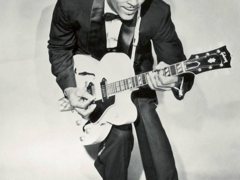 Chuck Berry circa 1958 (via Wikimedia Commons)