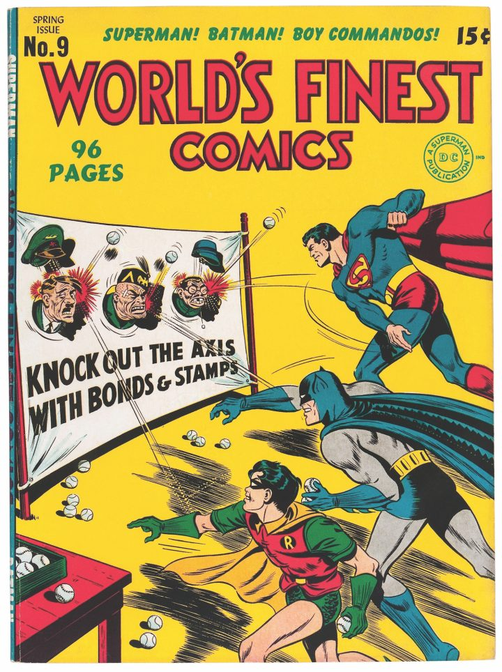 Cover of World's Finest Comes #9 (spring 1943)