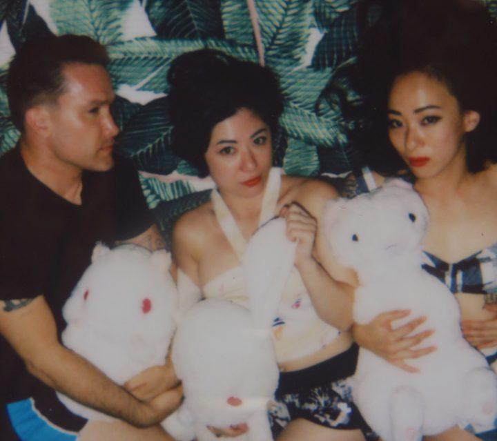 The three current members of Xiu Xiu, Jamie Stewart, Shayna Dunkelman, and Angela Seo (courtesy Xiu Xiu)