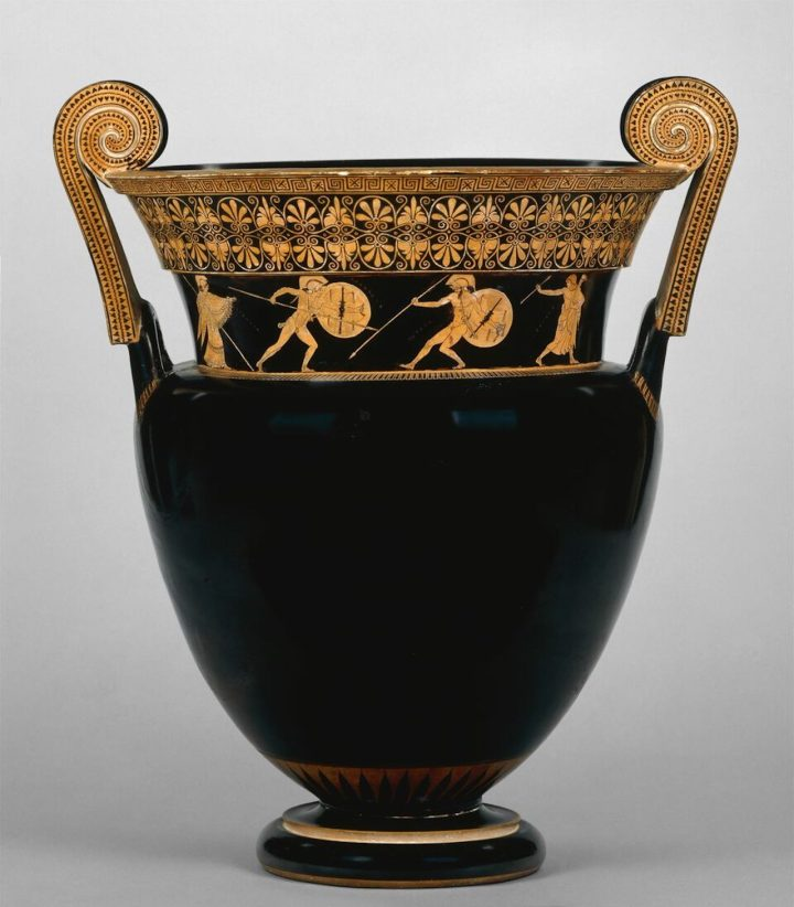Greek, Attic, attributed to the Berlin Painter, Red-figure volute-krater: A, Achilles and Hektor; B, Achilles and Memnon, ca 490 BCE, ceramic, the British Museum (© the Trustees of the British Museum, image courtesy of the Princeton University Art Museum)