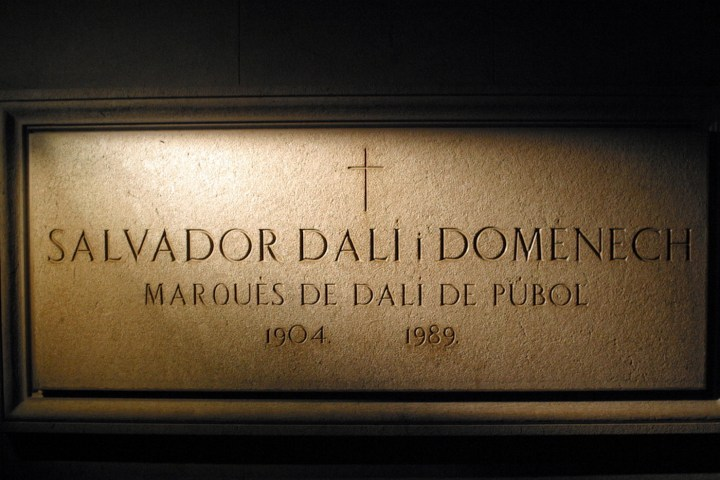 Salvador Dalí's crypt at the Dalí Theater and Museum, Figueres, Spain (photo by Michael Lazarev, via Wikimedia Commons)