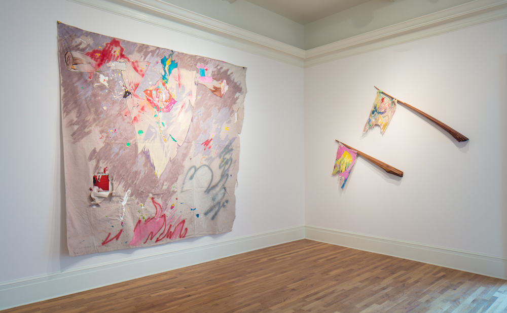 Installation view of Beyond the Canvas: Contemporary Art from Puerto Rico at the Newcomb Art Museum with works by Pedro Vélez