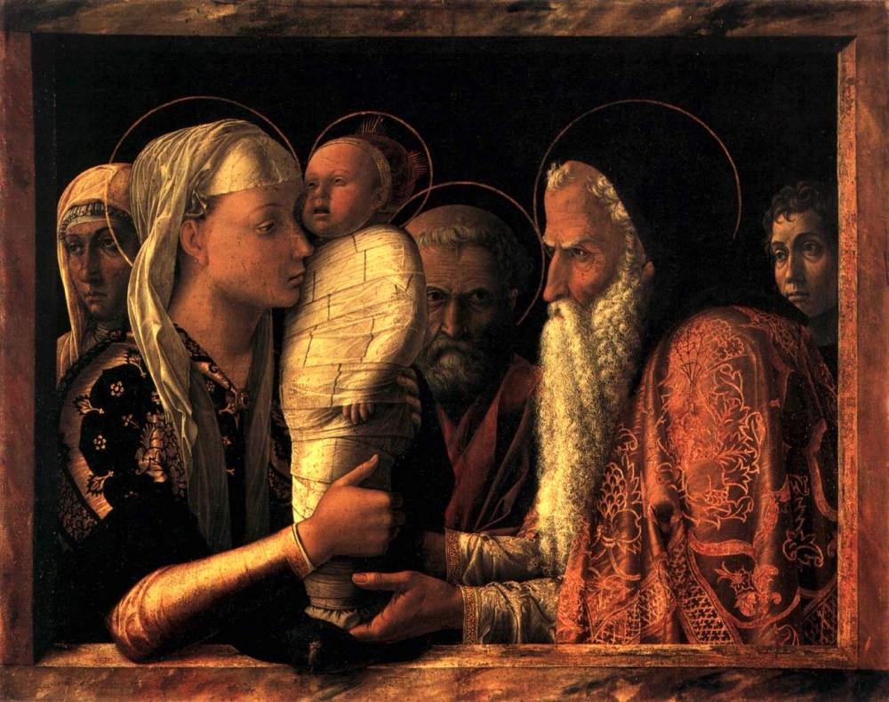 """Andrea Mantegna, """"Presentation in the Temple"""""""