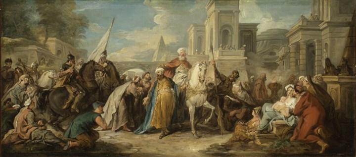 "Jean François de Troy, ""The Triumph of Mordecai"" (ca 1736), Louvre (via Wikimedia Commons)"