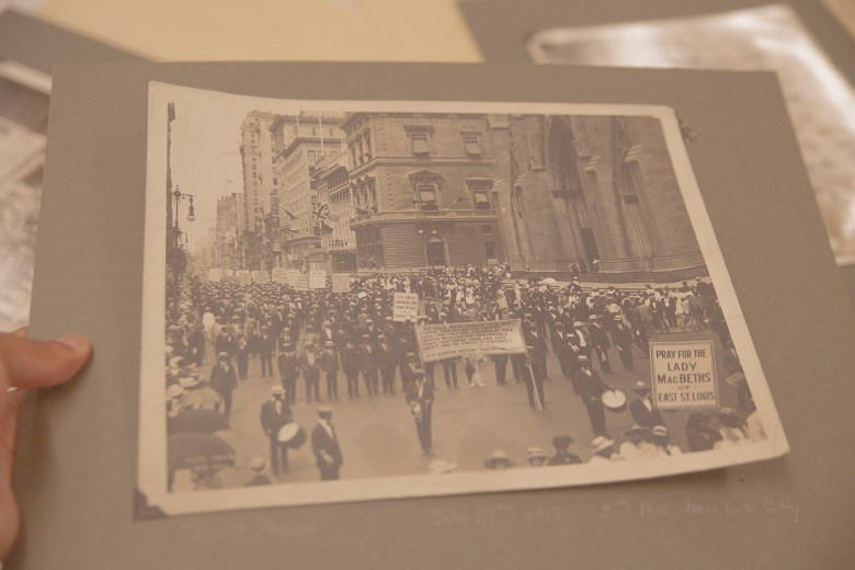 Photograph of the 1917 NAACP Silent Protest Parade by Underwood and Underwood (courtesy James Weldon Johnson Memorial Collection of African American Arts and Letters, Yale Collection of American Literature, Beinecke Rare Book and Manuscript Library)