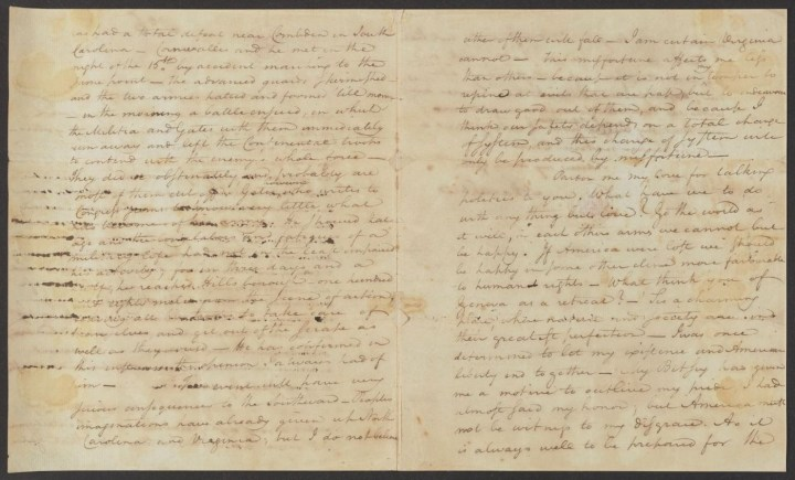 """Letter from Alexander Hamilton to his future wife Elizabeth Schuyler (September 6, 1780), suggesting """"What have we to do with any thing but love?"""" (courtesy Alexander Hamilton Papers, Manuscript Division, Library of Congress)"""