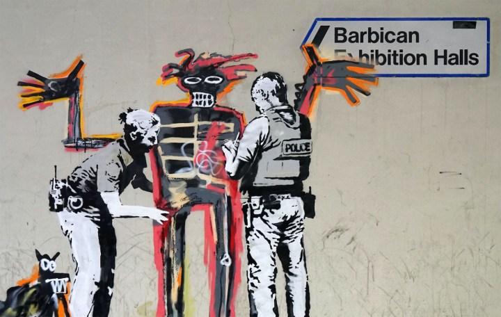 Banksy mural near the Barbican Centre (via banksy.co.uk)