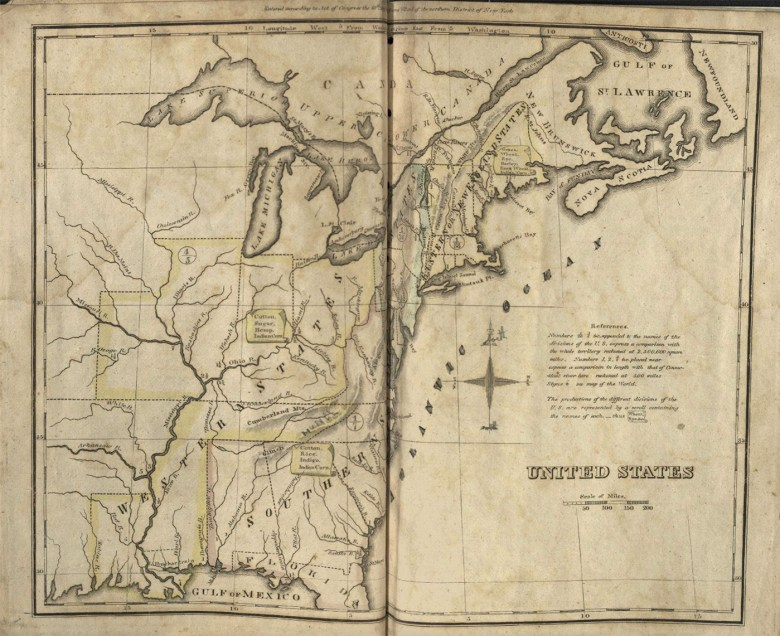 """Emma Willard, """"Atlas to Accompany Geography for Beginners"""" (1826) (courtesy Harvard Map Collection)"""