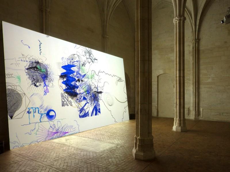 """Installation view of """"Climat Général"""" by Claire Malrieux at the Collège des Bernardins (© Vinciane Lebrun-Verguethen/Voyez-Vous)"""