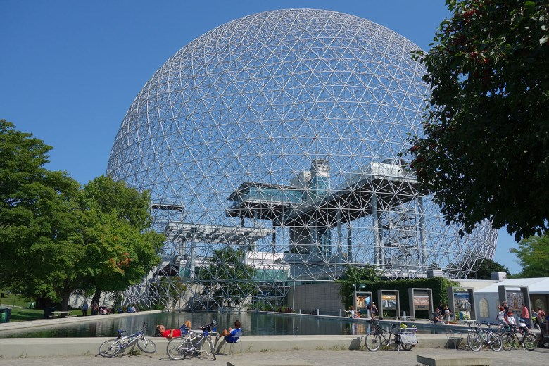The Montreal Biosphère (photo by the author for Hyperallergic)