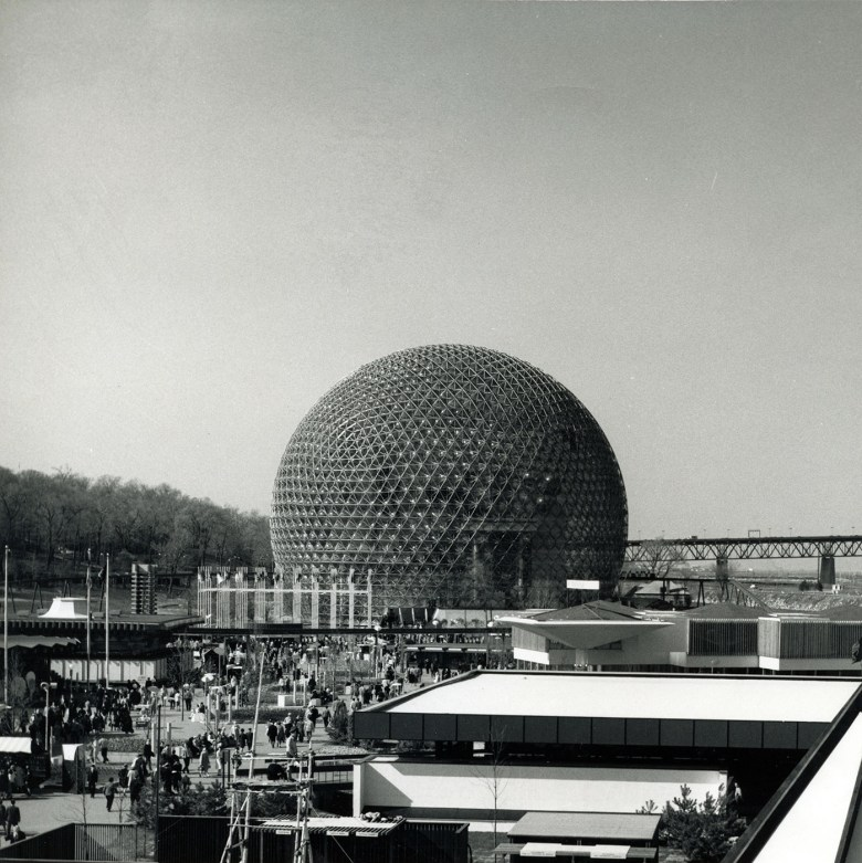 United States Pavilion, Expo 67, Montreal (1967) (R. Buckminster Fuller and Shoji Sadao, photo by Jeffrey Lindsay, courtesy Canadian Architectural Archives, the University of Calgary)
