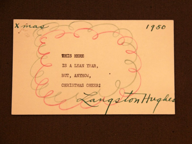 Langston Hughes 1950 typewritten poem (courtesy Beinecke Rare Book and Manuscript Library, Yale University)