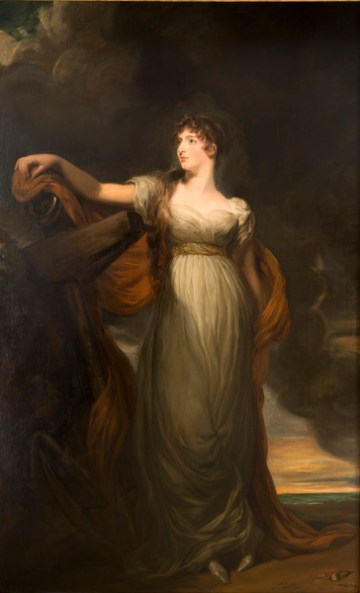 """Thomas Lawrence, """"Allegorical Portrait of Louisa, Countess of Sandwich, as 'Hope'"""" (ca late 18th century–early 19th century), oil on canvas, 92 1/4 x 56 3/4 in, collection of La Salle University Art Museum (via Wikimedia Commons)"""