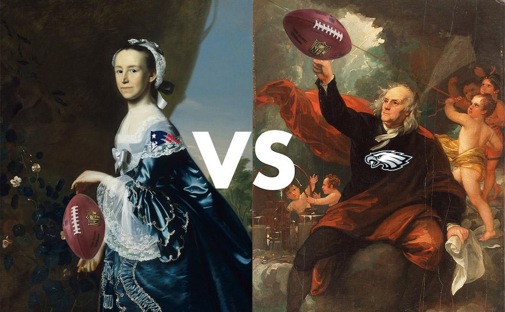 Museum Bowl 2018: Museum of Fine Arts, Boston versus the Philadelphia Museum of Art (illustration by Benjamin Sutton/Hyperallergic)