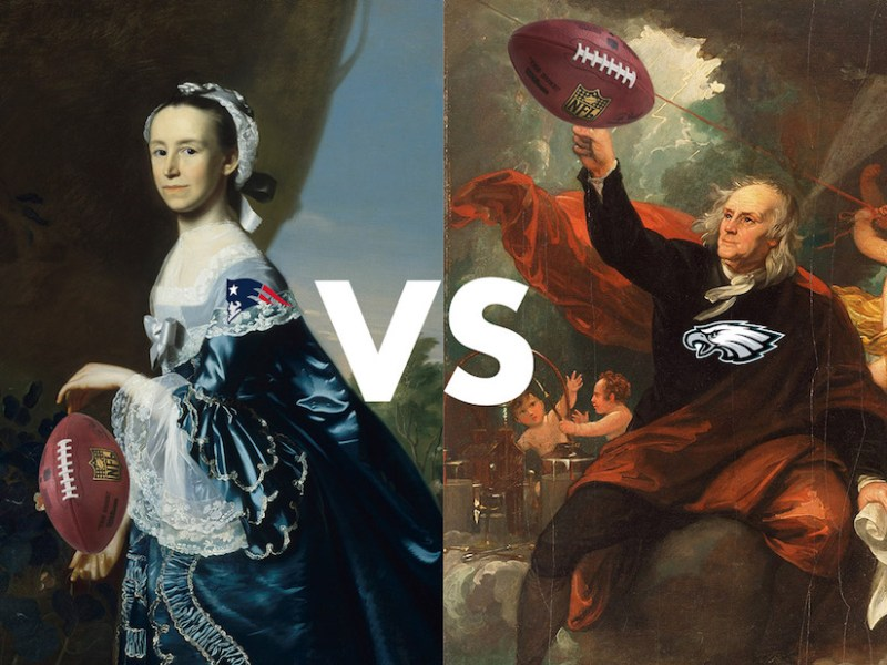 Museum Bowl 2018: Museum of Fine Arts, Boston versus the Philadelphia Museum of Art (illustration by Benjamin Sutton/Hyperallergic)