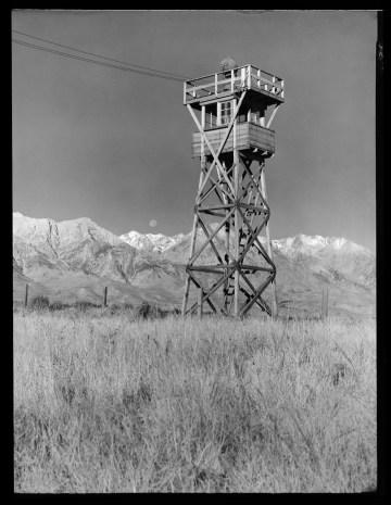 "Toyo Miyatake, ""Manzanar Watch Tower"" (1944) (courtesy Toyo Miyatake Studio)"