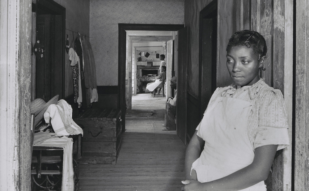 "Jack Delano, ""Interior of Negro Rural House, Greene County, Georgia"" (June 1941), gelatin silver print (courtesy the Museum of Modern Art, New York)"
