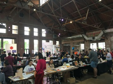 A view of the BABZ Fair 2017 (photo by Megan N. Liberty/Hyperallergic)