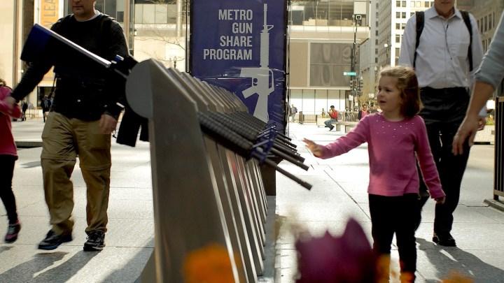 "The ""Metro Gun Share Program"" station in Daley Plaza, Chicago (all photos courtesy The Escape Pod)"