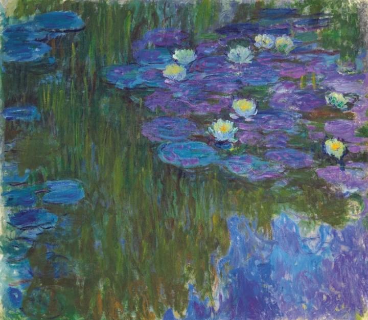"""Claude Monet, """"Nymphéas en fleur"""" (ca 1914–17), oil on canvas, 63 3/8 x 71 1/8 in, pre-sale estimate in the region of $50 million; price realized: $84,687,500"""