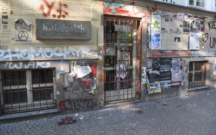 The exterior of the anarchist library Kalabal!K in Berlin (photo courtesy Kalabal!K)