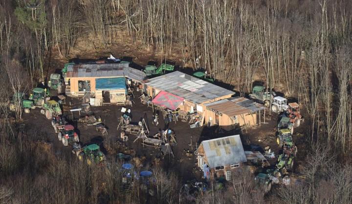 An occupied site in the ZAD circa 2013 (courtesy Crimeth Inc.)