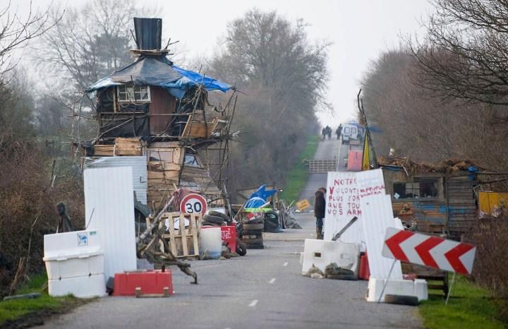 "The occupied D281 road, also known as ""La route des chicane"" (courtesty Crimeth Inc)"