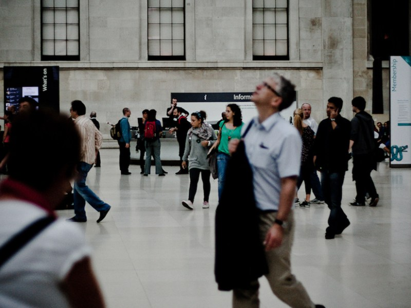 Visitors at the British Museum (photo by Mark Ramsay, via Flickr)