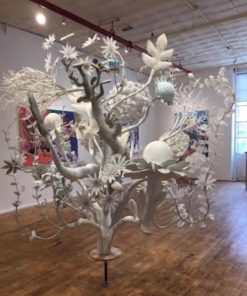 Installation view of JoAnne Carson's Dreamcatchers (2017)