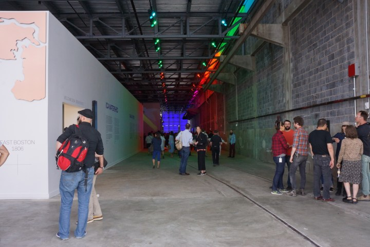 The interior of the ICA Boston's new Watershed space (photo by the author for Hyperallergic)