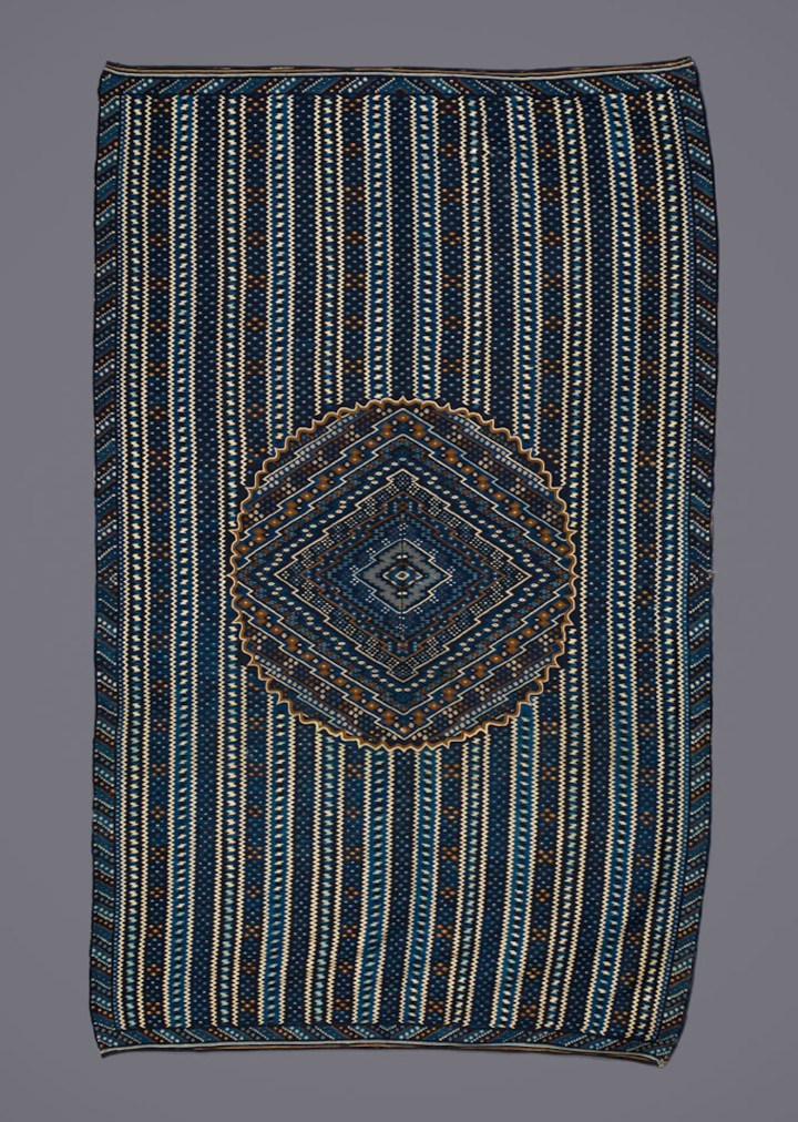 Serape, early 19th century, Mexican, wool, and dye, 56 1/2 x 93 in, Saint Louis Art Museum, gift of Elissa and Paul Cahn (courtesy Saint Louis Art Museum)