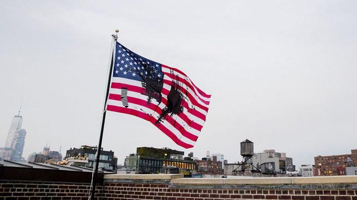"""Josephine Meckseper, """"Untitled (Flag 2)"""" from the <em srcset="""