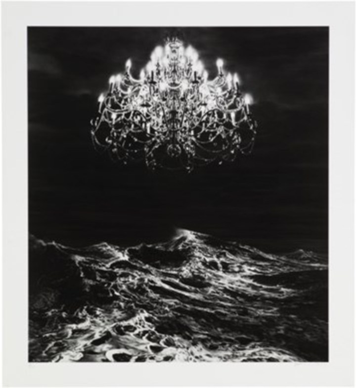"""Robert Longo, """"Untitled,"""" from a set of four Ditone prints, on wove paper, 2013-2017, each signed and dated in pencil, numbered 1/30 in pencil, in Hatje Cantz Collector's Editions portfolio, 20⅞ x 18¾ in. (image courtesy of Christie's)"""