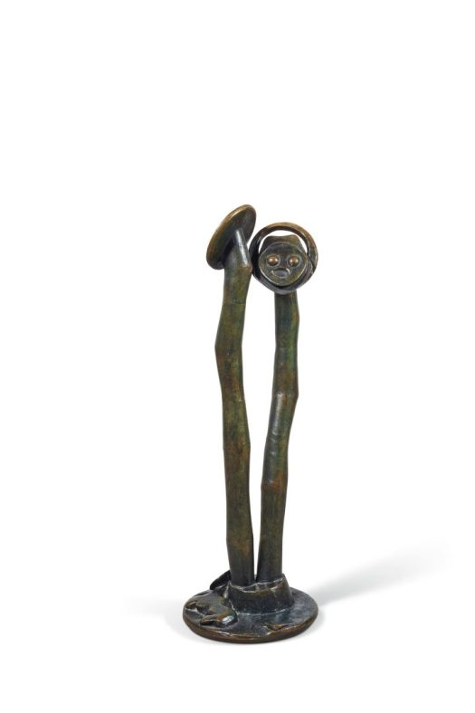 """Max Ernst, """"Âmes-sœurs"""" (1961), brown patina, bronze green, height: 36 inches (image courtesy Christie's)"""