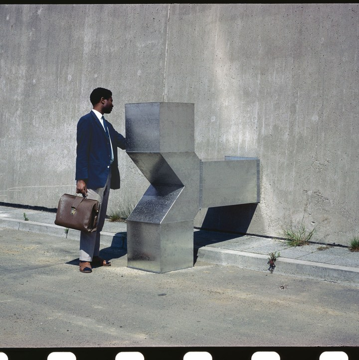 "Charlotte Posenenske, ""Vierantrohr (Square Tube), Series D"" (1967), installation view, (©Estate of Charlotte Posenenske, courtesy Estate of Charlotte Posenenske, Mehdi Chouakri, Berlin, and PeterFreeman, New York)"