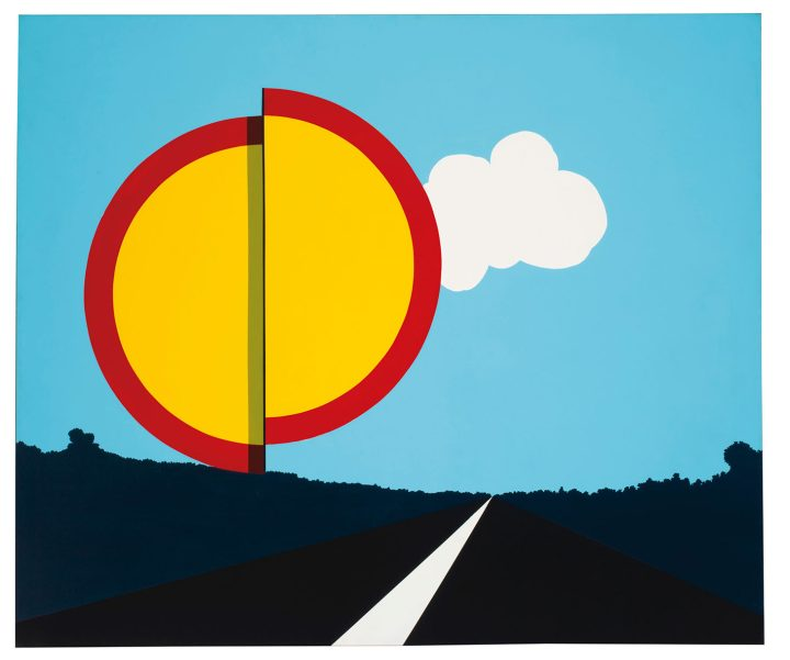 """Allan D'Arcangelo, """"American Landscape"""" (1967), acrylic on canvas 56 x 66 inches (image courtesy Christie's)"""
