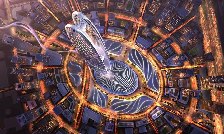 Aerial rendering of Burj Jumeira (all images courtesy Dubai Holding Media)