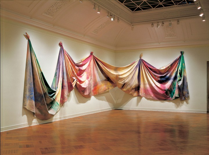 "Sam Gilliam, ""Light Depth"" (1969), acrylic on canvas (image courtesy Corcoran Gallery of Art, Gift from the Trustees of the Corcoran Gallery of Art (Museum Purchase, Gallery Fund), 2018)"