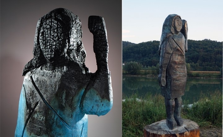 The Story of the Scorched Melania Trump Sculpture in Slovenia